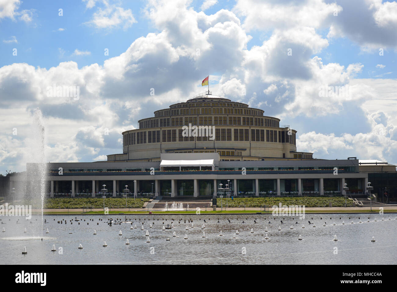 The famous UNESCO World Heritage site 'Centennial Hall' or 'Jahrhunderhalle' in Wroclaw, Poland. The architect was Max Berg, it was built in 1911–1913 Stock Photo