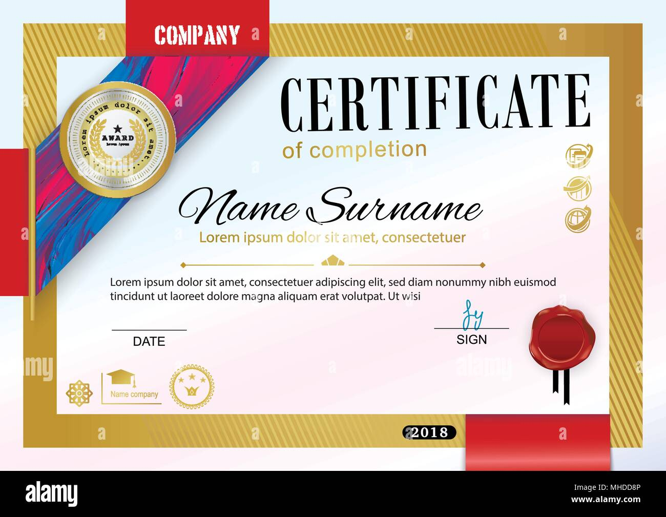 Official Certificate Of Appreciation Award Template With Black And