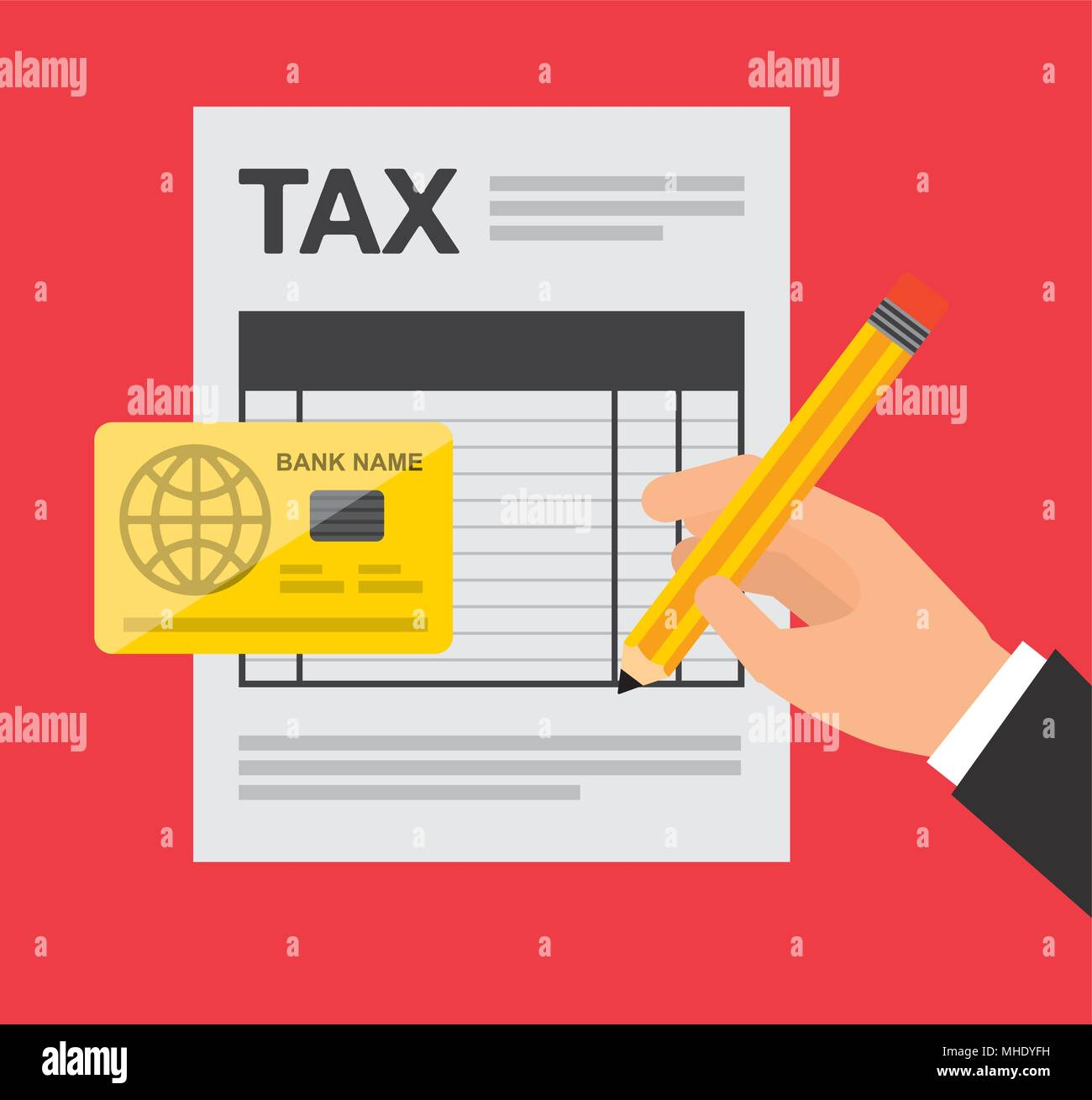 taxes concept  - Stock Vector