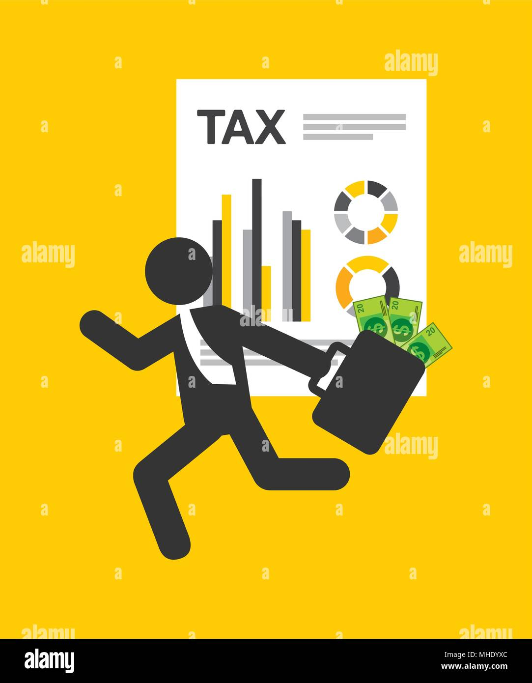 tax concept - Stock Vector