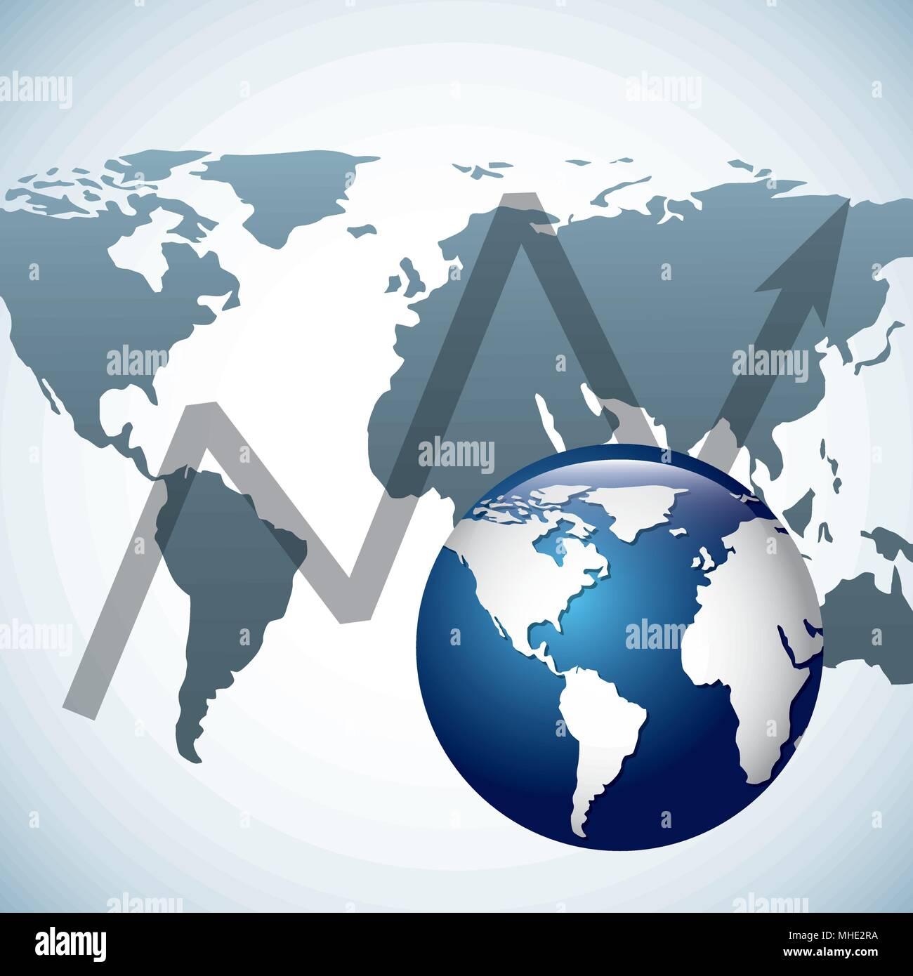 global economy  - Stock Vector