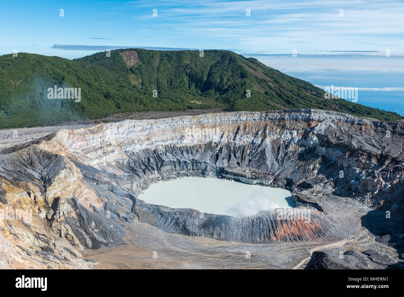 Vulcano Poas in Costa Rica Stock Photo