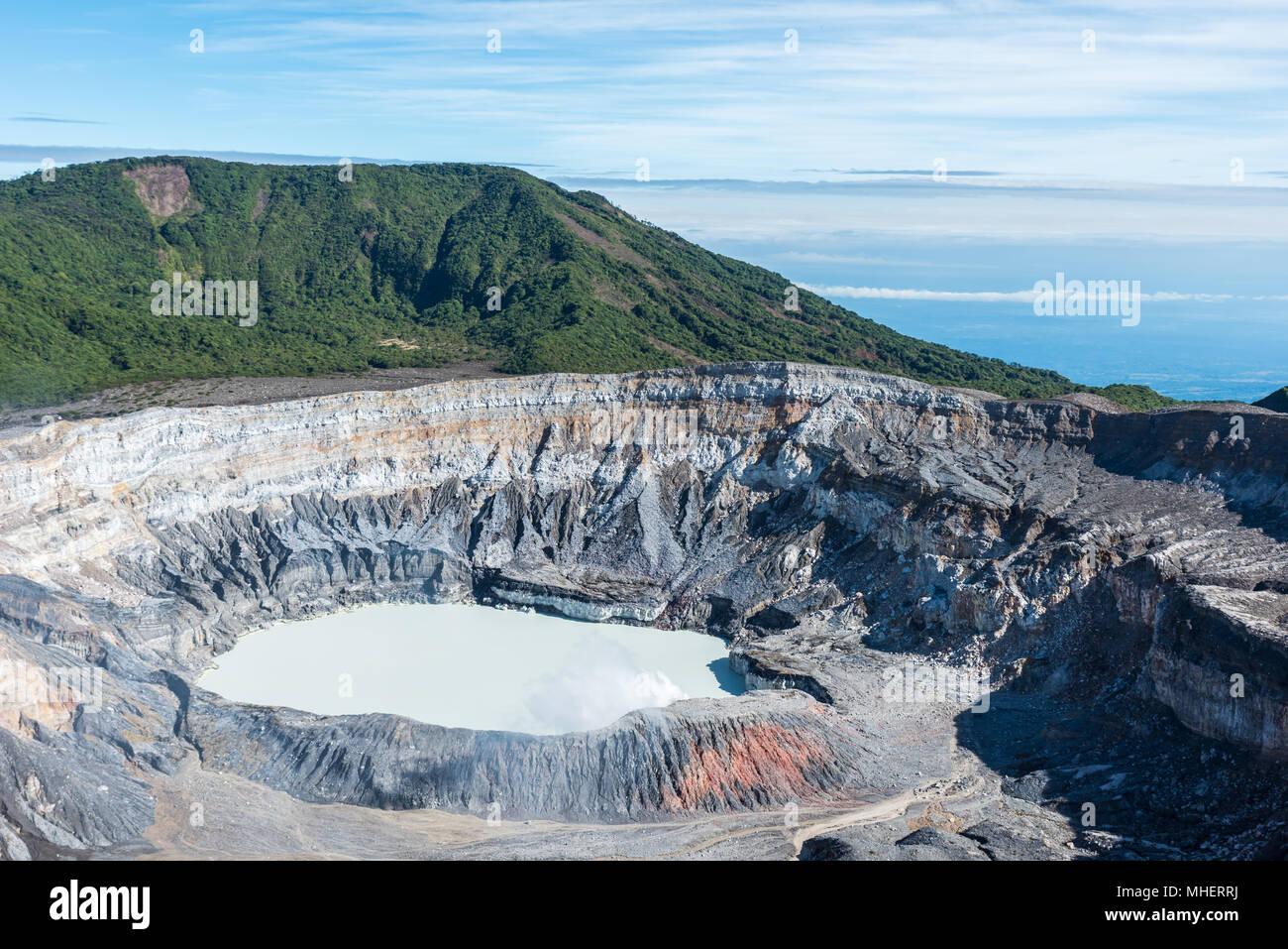 Vulcano Poas in Costa Rica - Stock Image
