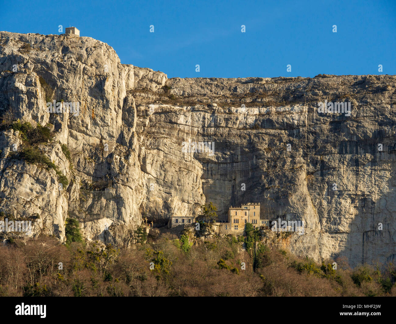 Sanctuaire de la Sainte-Baume, cave of St. Mary Magdalene.. - Stock Image