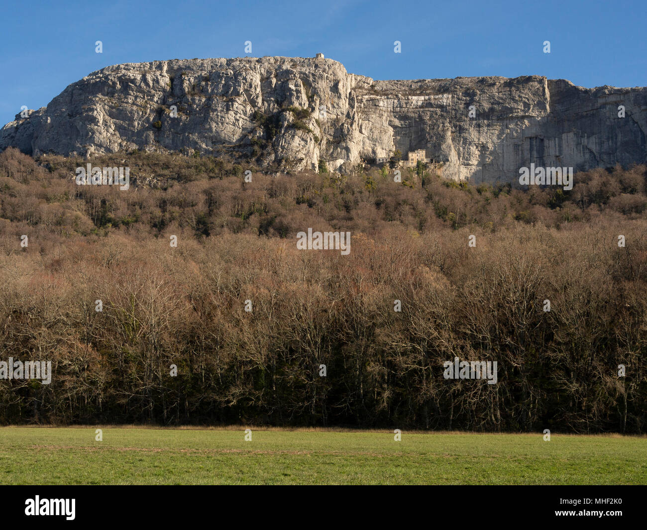 Massif of Sainte-Baume and its Sanctuary. - Stock Image