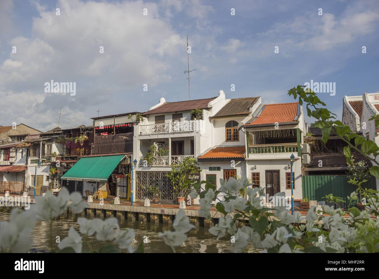 Sensational A Terrace Of Houses Line The River In Malacca Malaysia Download Free Architecture Designs Scobabritishbridgeorg