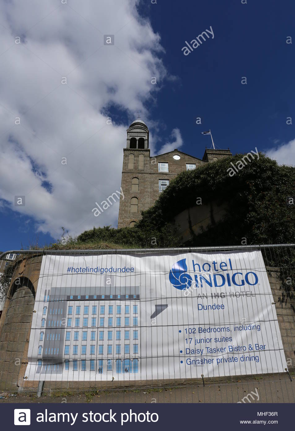 Former Baxter Brothers Mills being refurbished into Hotel Indigo Dundee Scotland  April 2018 - Stock Image