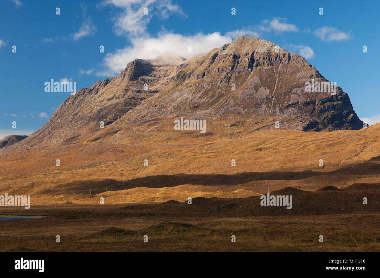The iconic mountain Liathach - Torridon, Ross-shire, Scottish Highlands. - Stock Image