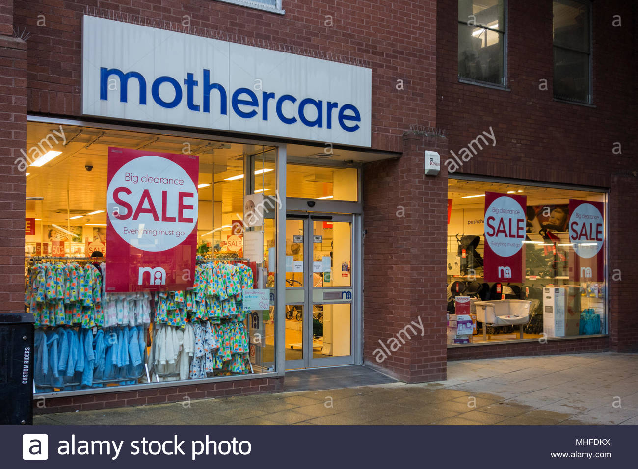 A branch of Mothercare imn Huntingdon, UK, advertising a sale (store now closed) - Stock Image