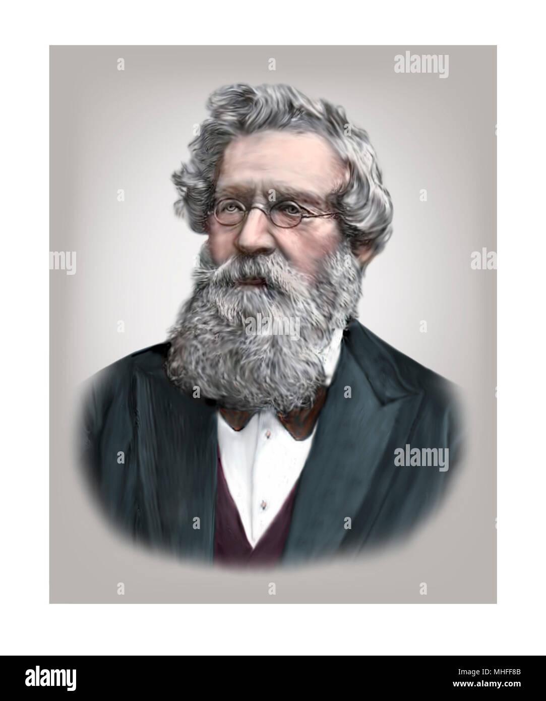 August Wilhelm von Hofmann, 1818-1892, German Chemist - Stock Image