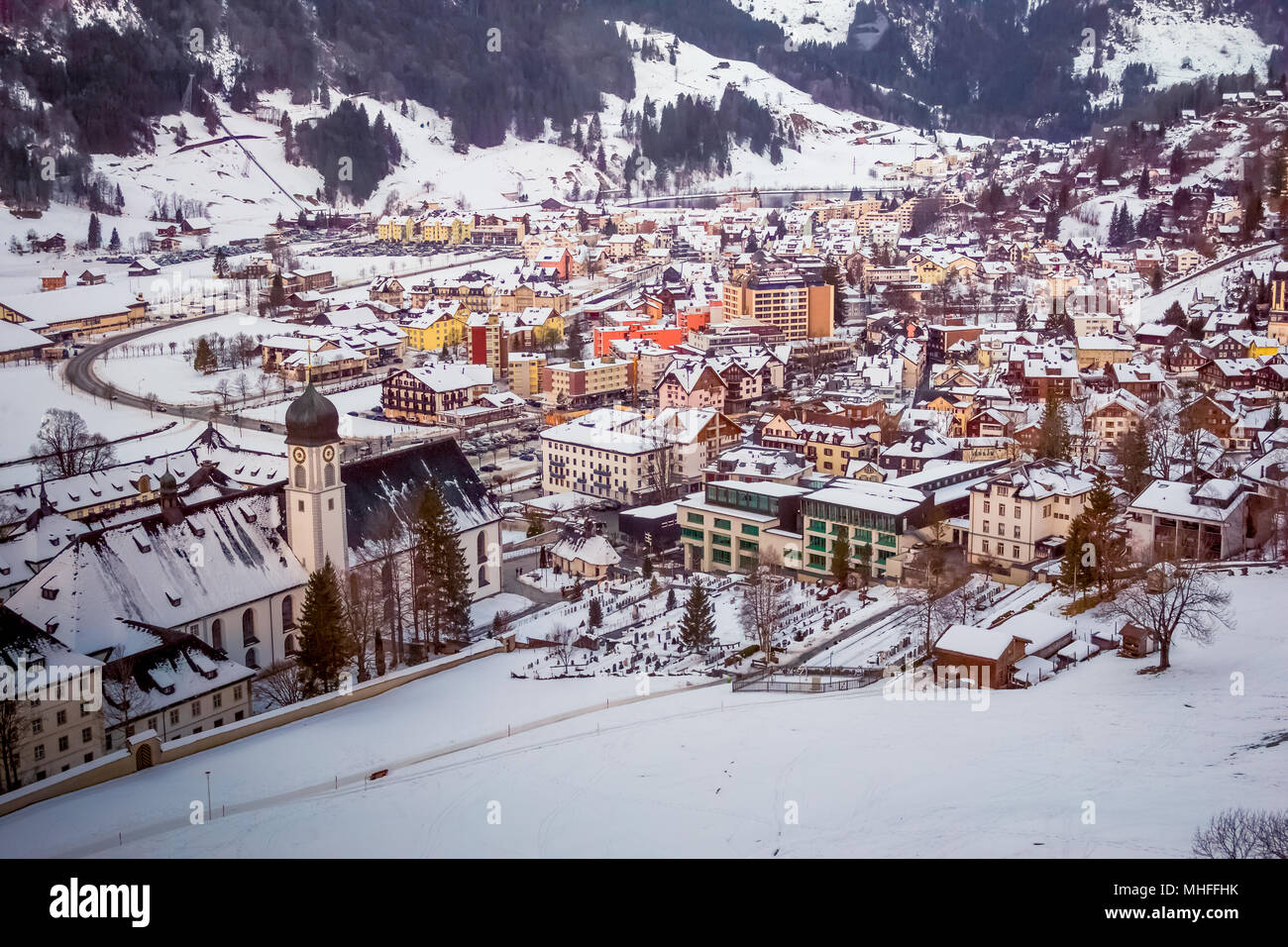 Engelberg Village, Switzerland Stock Photo