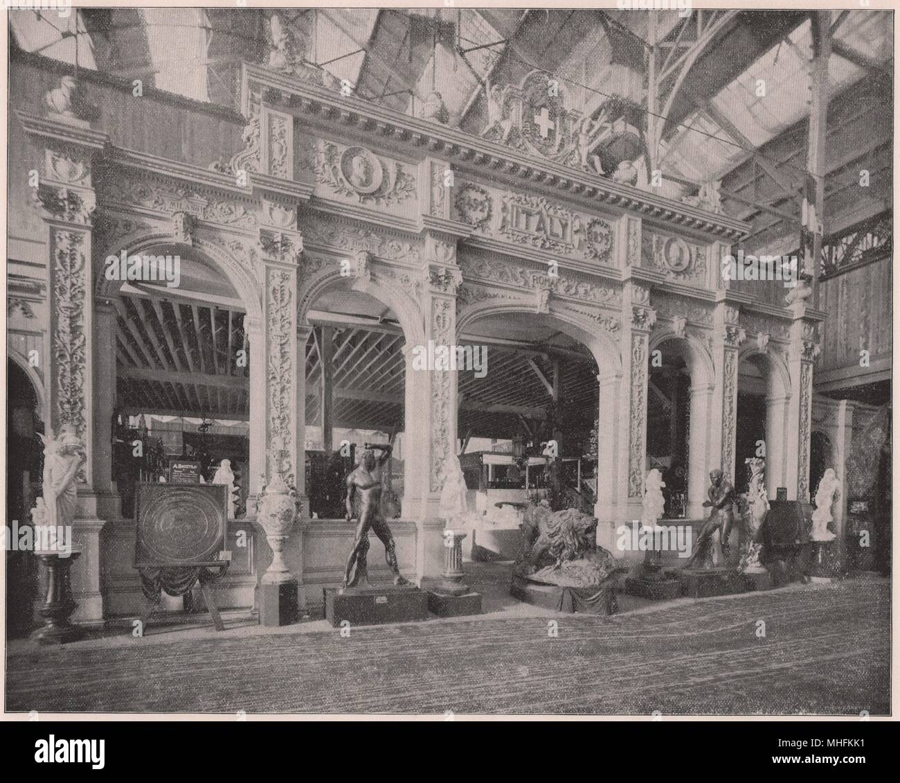 Italy's Dainty Display - Just within the main south portal of the Manufactures Building, on the left side of Columbia avenue, i… - Stock Image