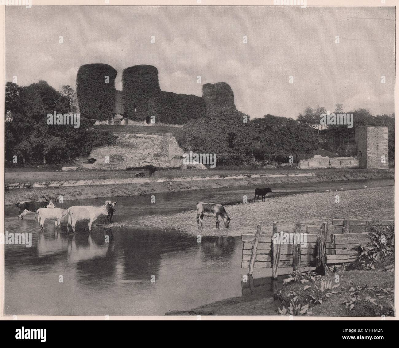 Rhuddlan Castle, the 'Castle of the Red Bank,' lies on the eastern side of the Clwyd, near St. Asaph, and is said to have been … - Stock Image