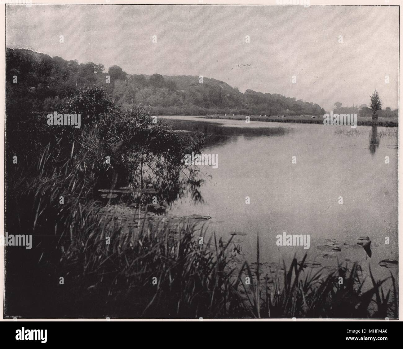 Hurley Reach, between Bisham and Medmenham, is an example of that peculiar combination of scenery which is one of the greatest … Stock Photo