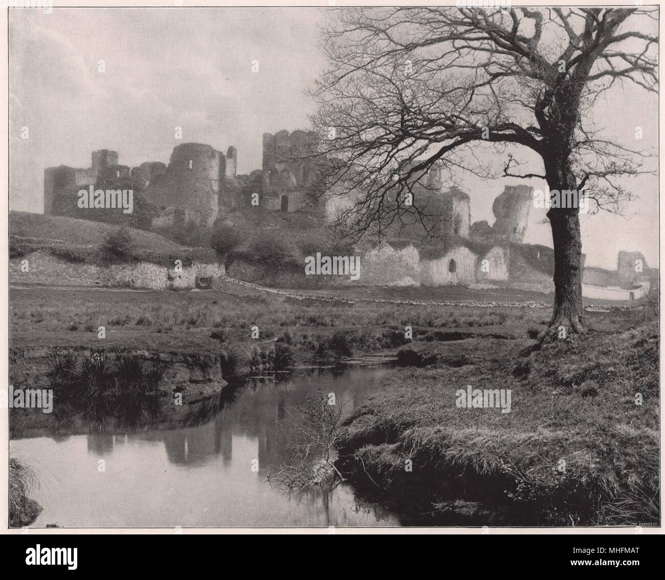 Caerphilly Castle, a few miles from Cardiff, has fallen so rapidly into decay within the past hundred years that it has little … - Stock Image