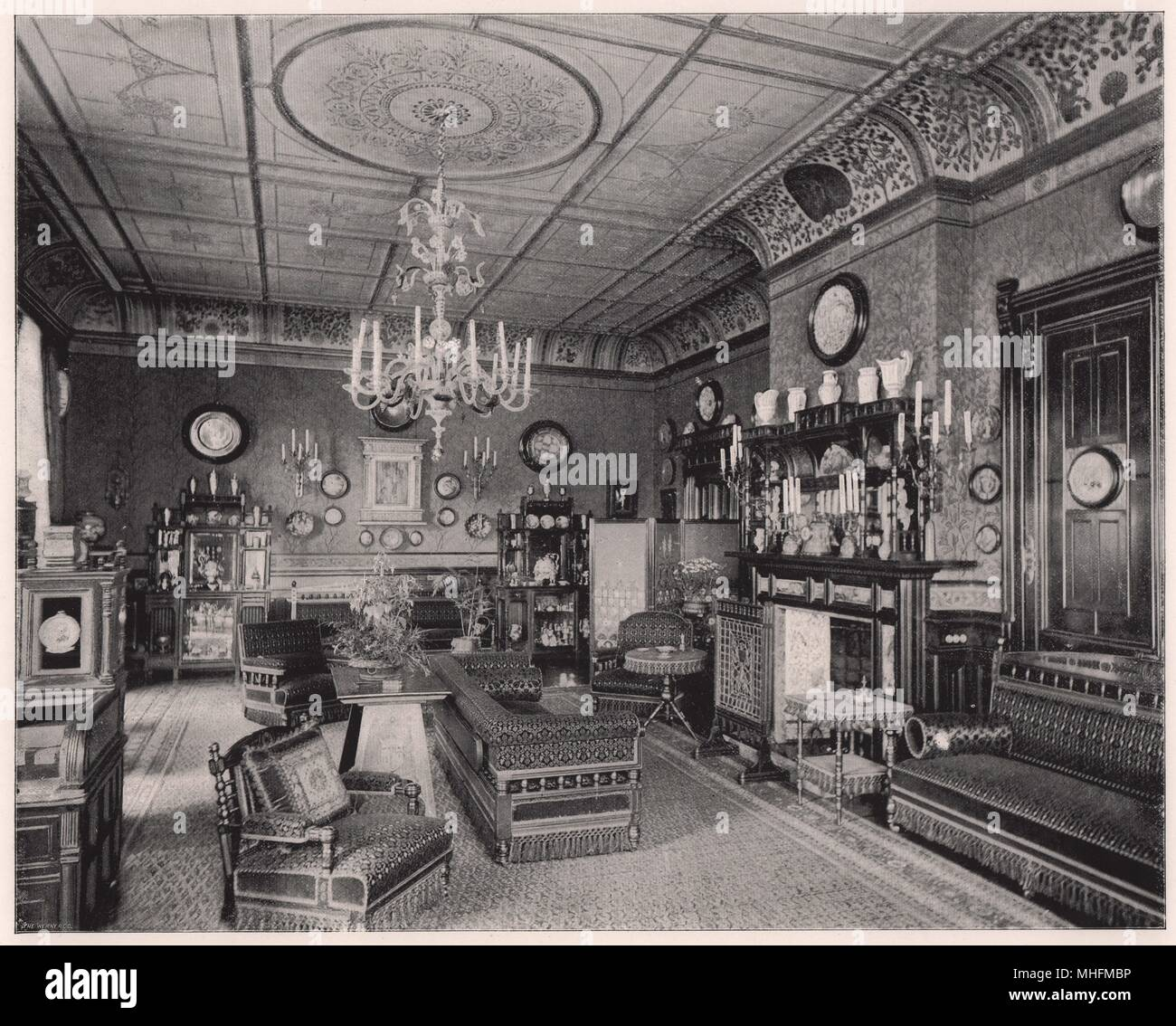 The Morning Room at Clarence House - After the principal festivities which took place at the Winter Palace in St. Petersburg in… Stock Photo