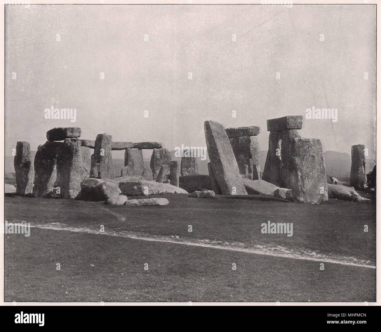 Stonehenge, that wonderful monument of ancient times, about which so much has been said but so little is known, is situated on … - Stock Image