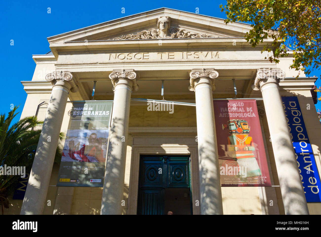 Museo de Antropologia, museum of anthropology, Madrid, Spain - Stock Image