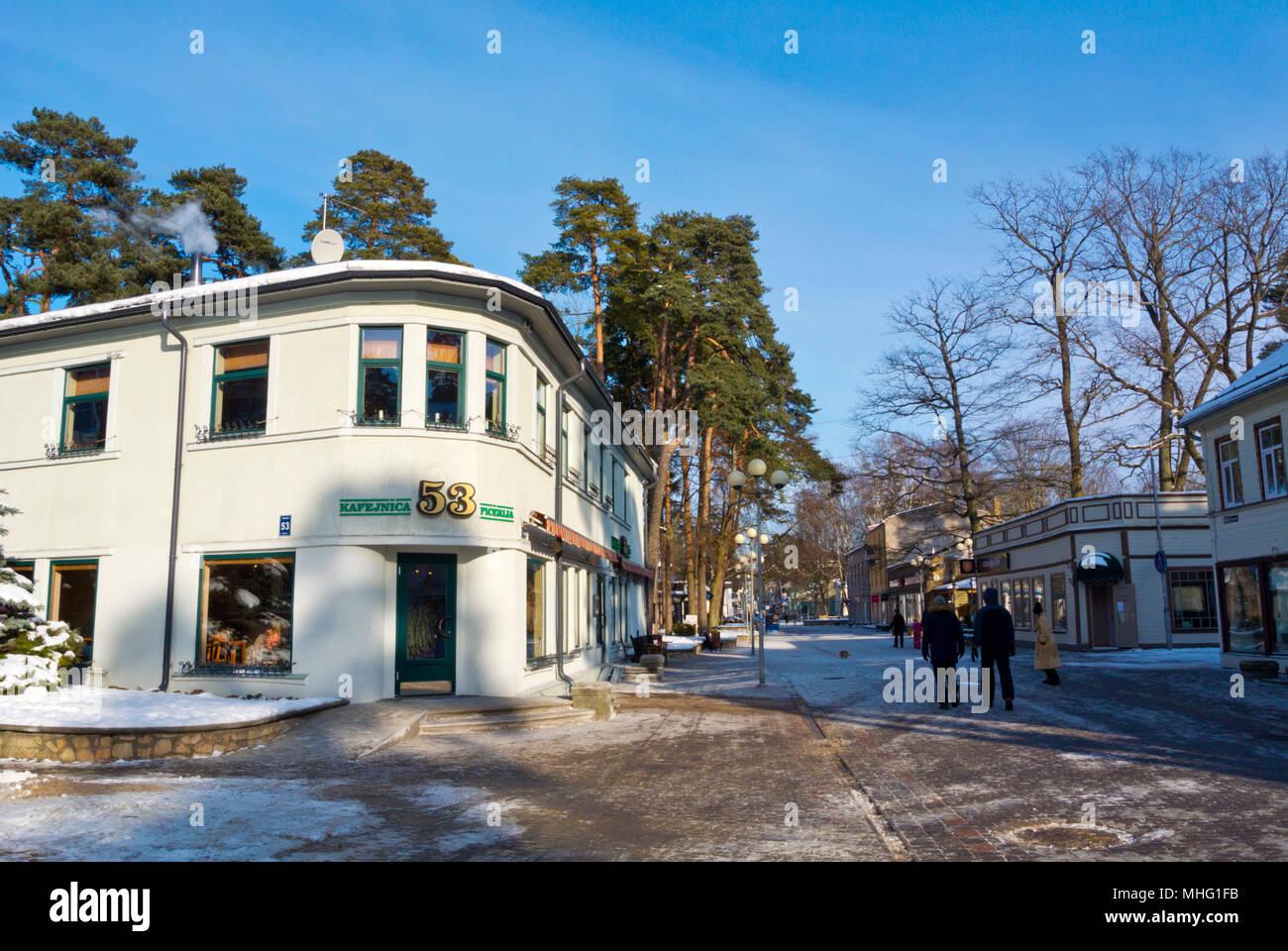 Jomas iela, Majori, Jurmala, Latvia - Stock Image