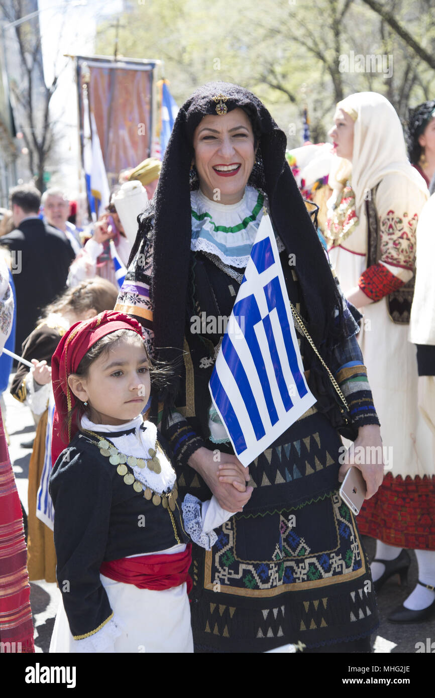 Greek Independence Day Parade In New York City Grandma And