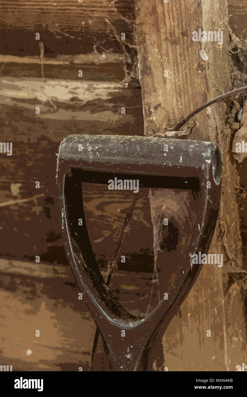 Spade handle - Stock Image
