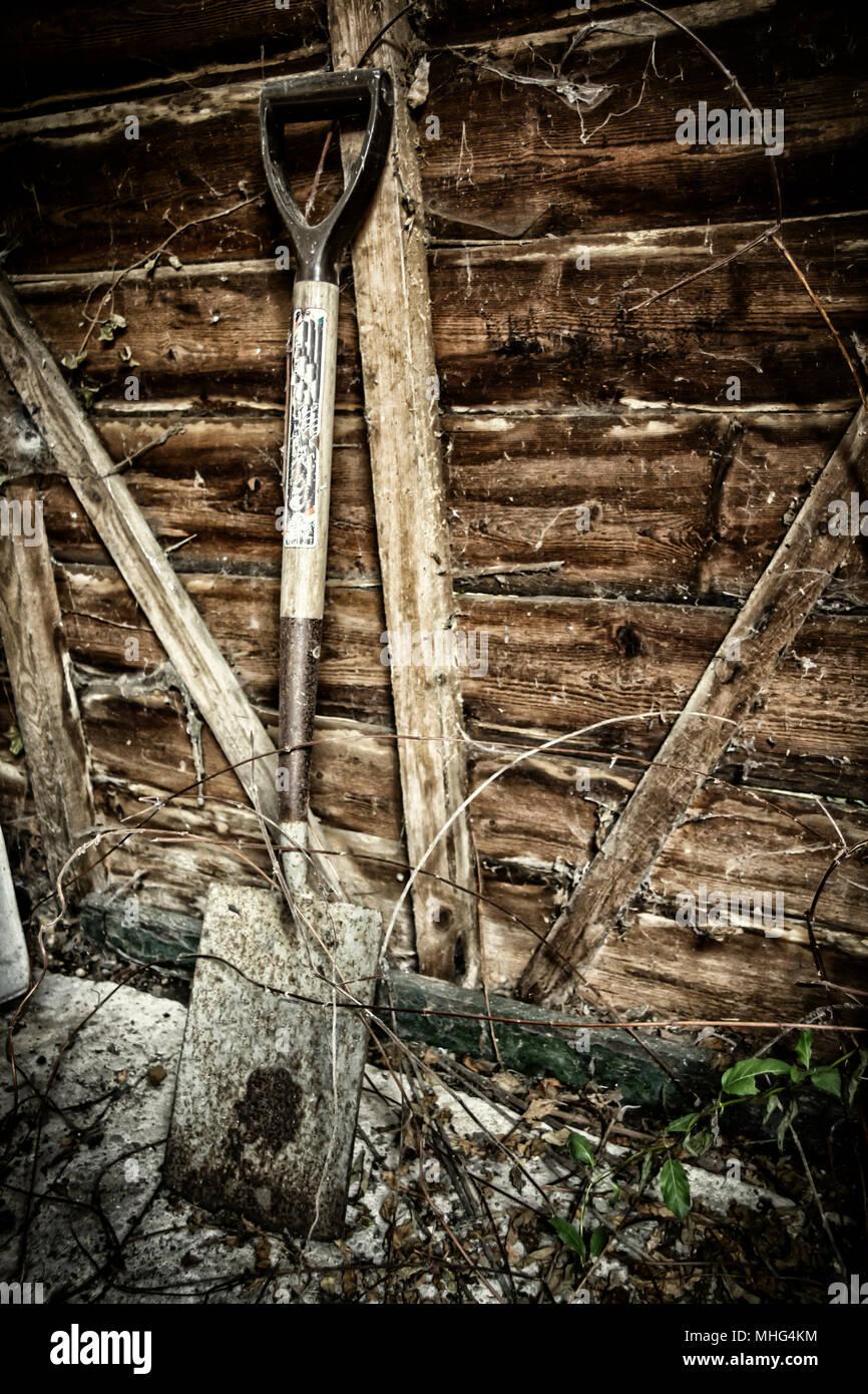 Garden spade - Stock Image