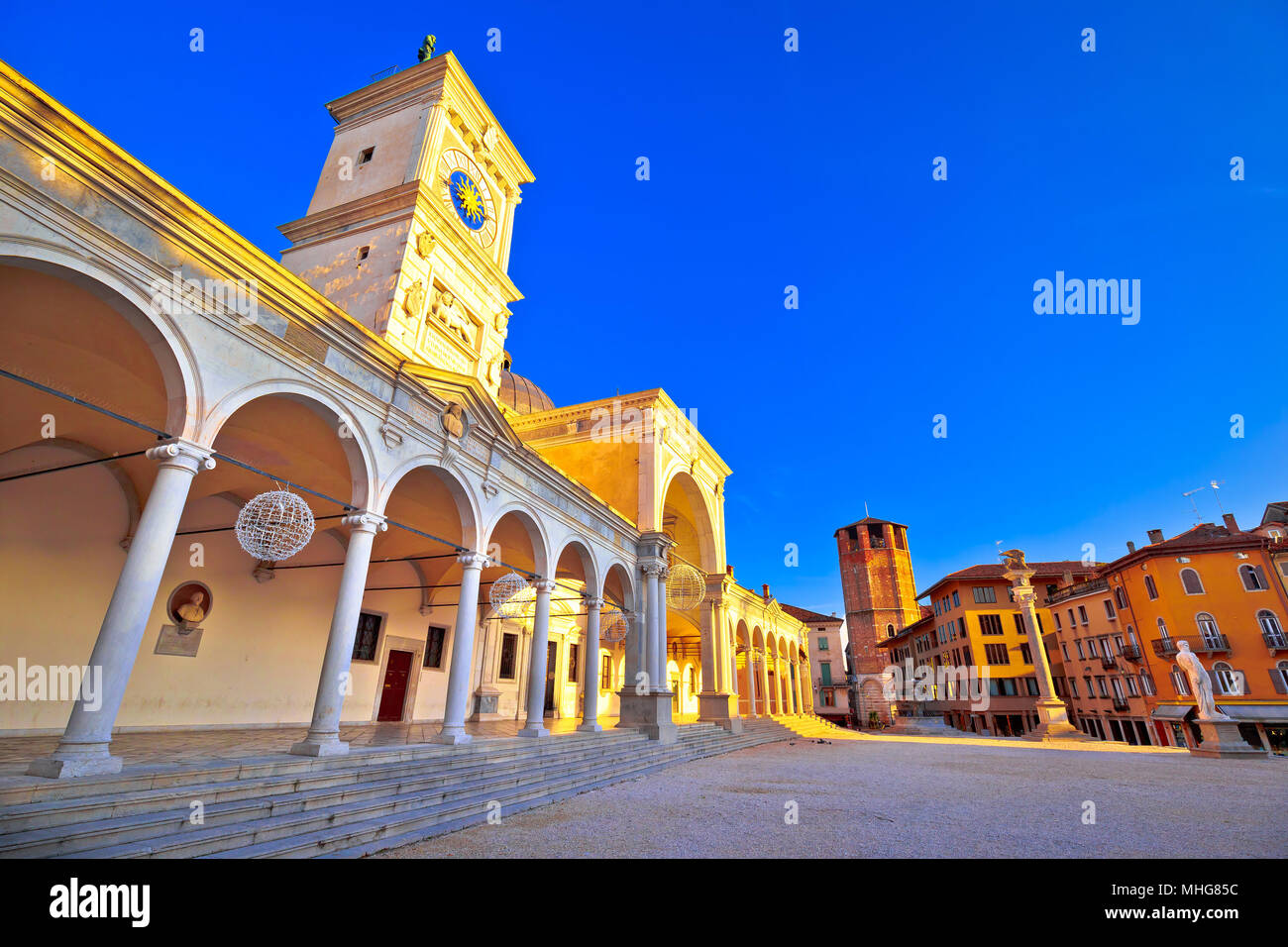 Piazza della Liberta square in Udine landmarks view, Friuli-Venezia Giulia region of Italy - Stock Image