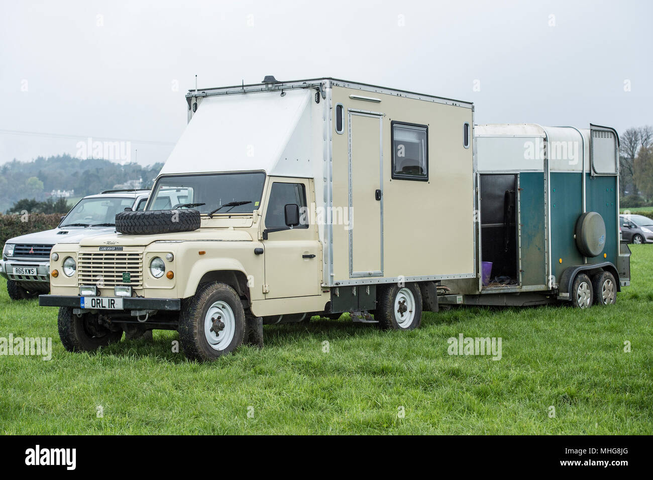 converted landrover campervan - Stock Image
