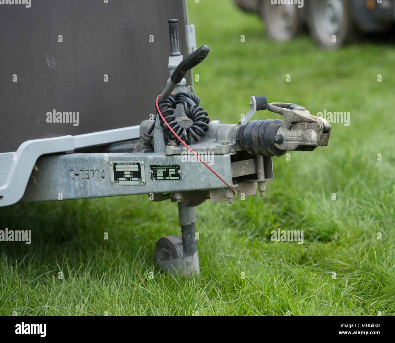 tow hitch on a horse box - Stock Image