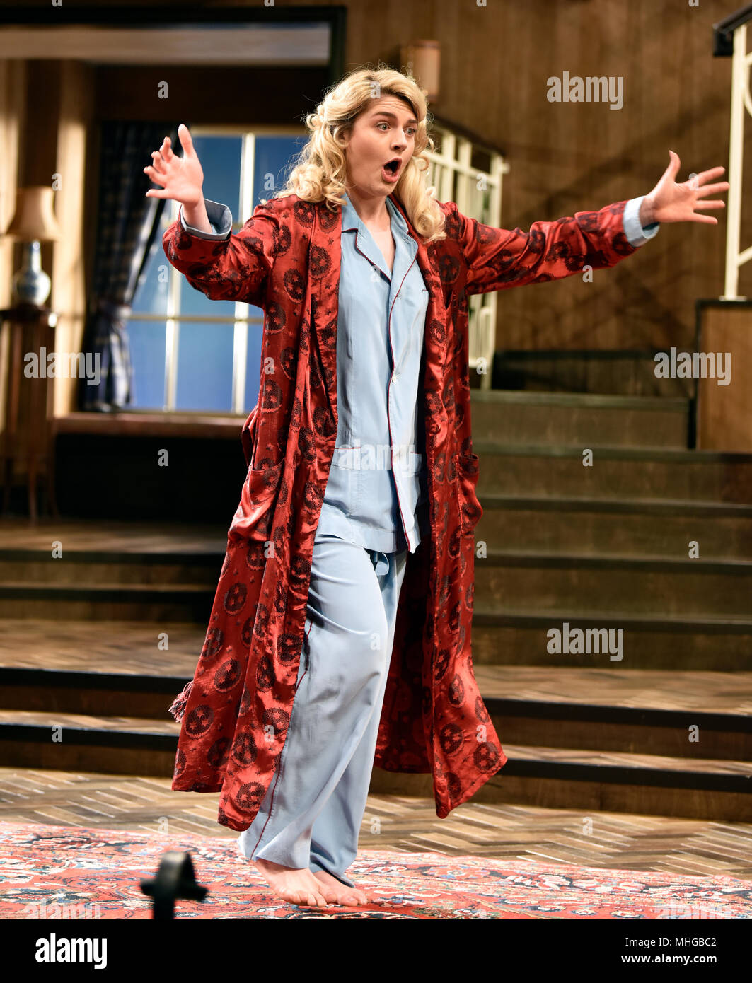 Lizzy Connolly (Playing Daphne Stillington) in a scene from Present Laughter by Noel Coward, Chichester Festival Theatre, Chichester, Sussex, United K - Stock Image