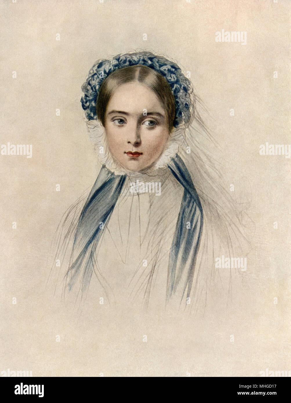 Queen Victoria early in her reign  Printed color