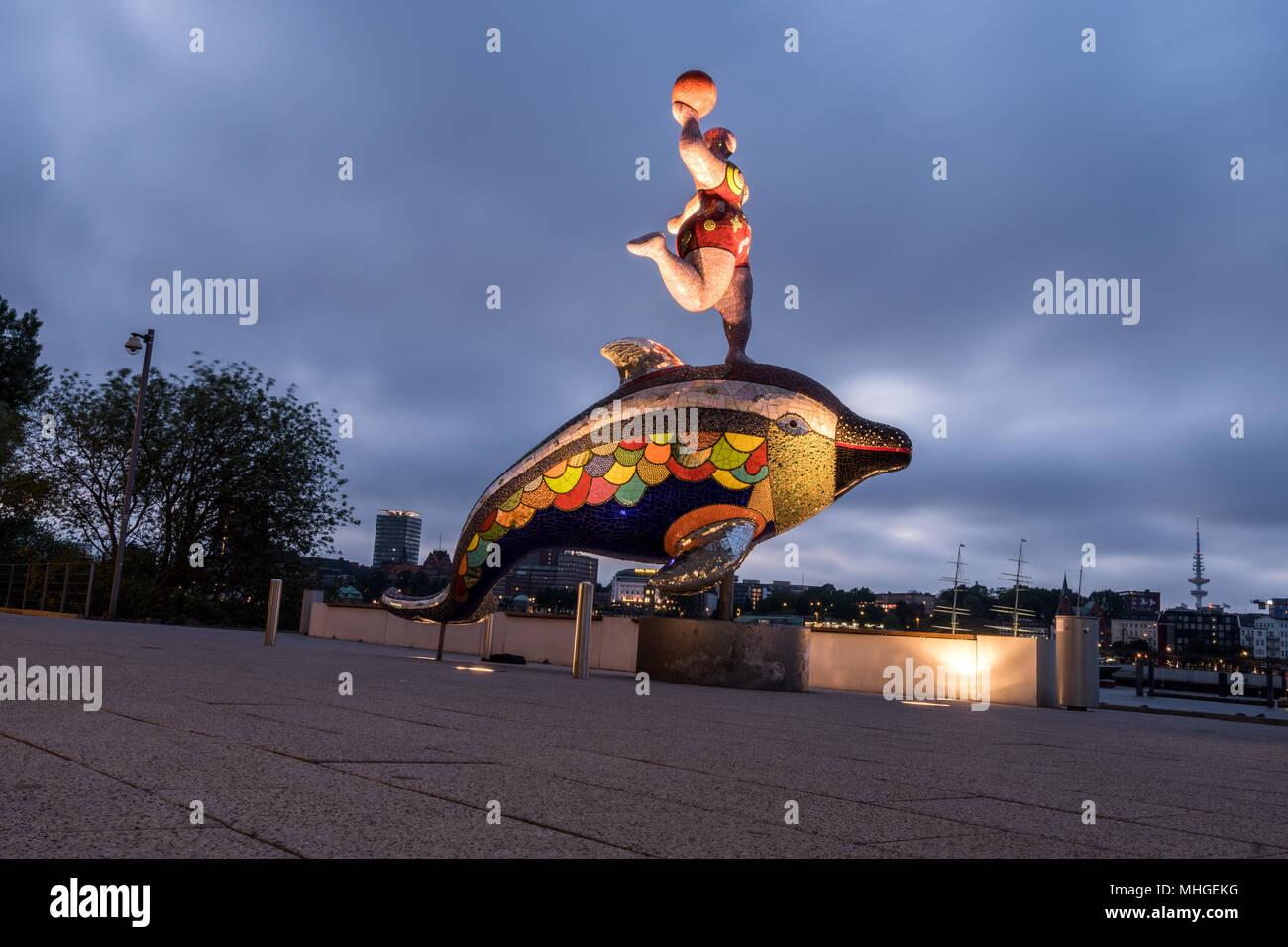 Free and Hanseatic City of Hamburg. Freie und Hansestadt Hamburg. - Stock Image