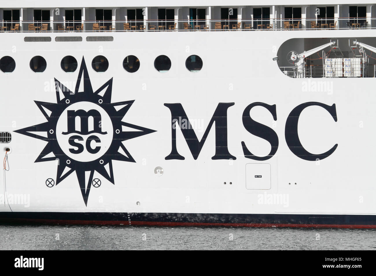 The MSC Cruises Logo On Ship Orchestra