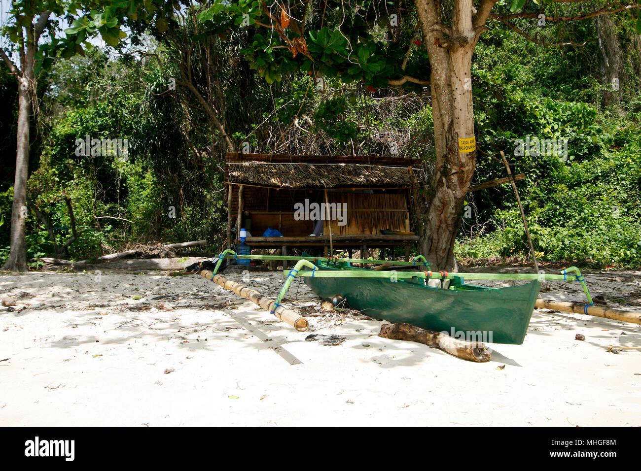 Inhabited island. Sulawesi, Indonesia - Stock Image
