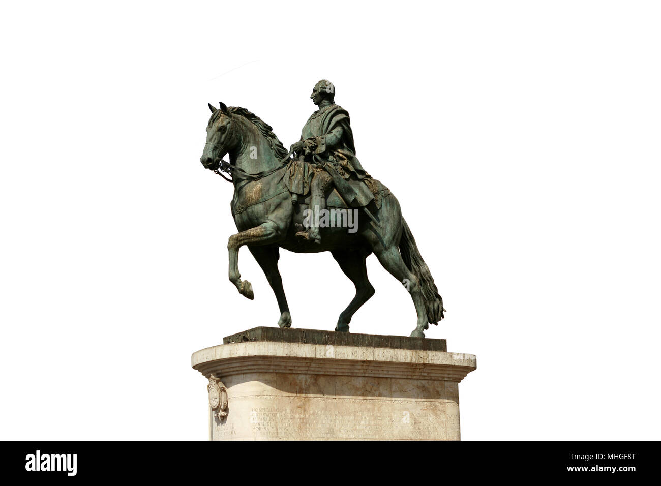 Carlos III statue. Madrid. Spain - Stock Image