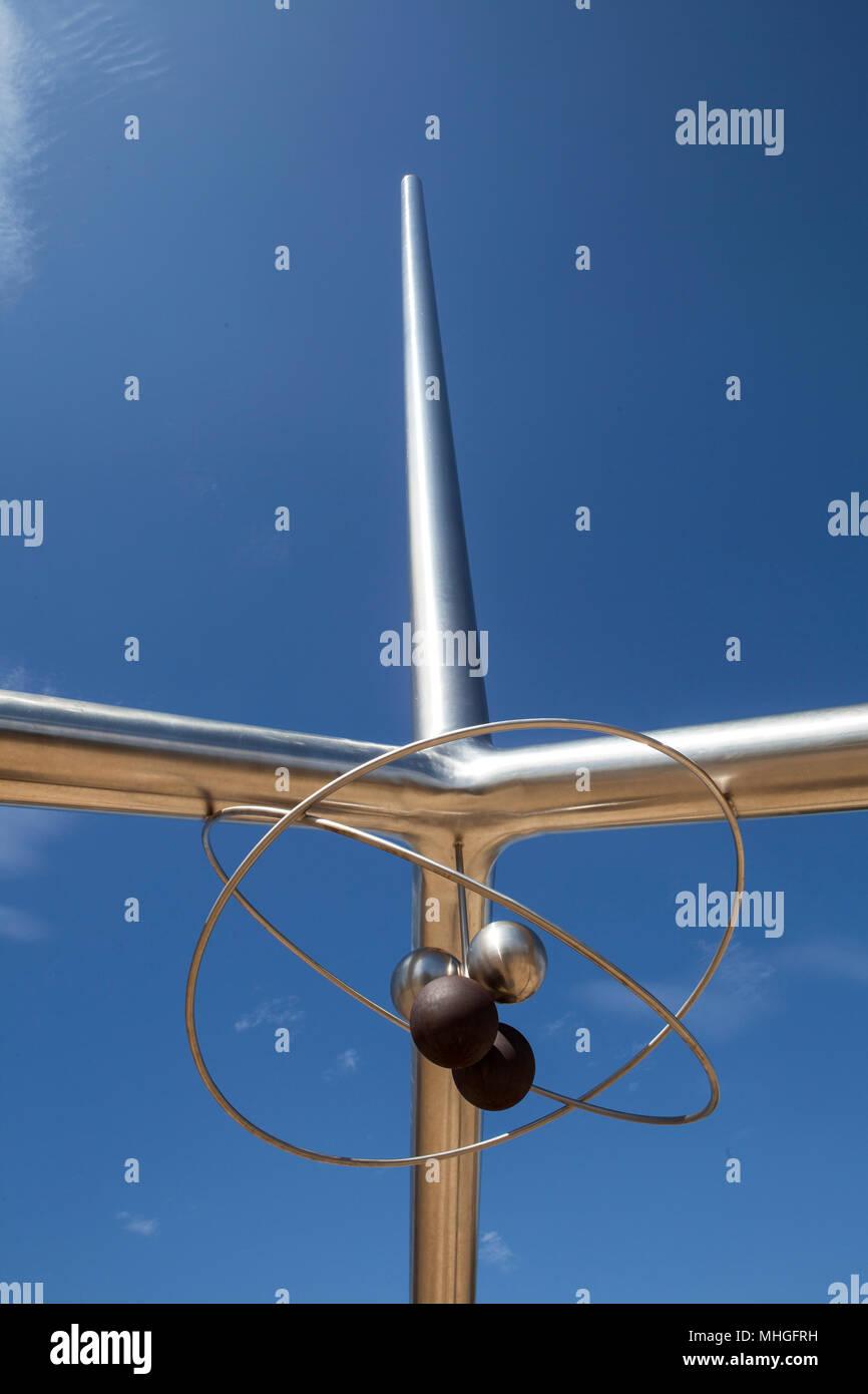 The Helium Centennial Time Columns Monument at the Don Harrington Discovery Center, Amarillo, Texas. Stock Photo