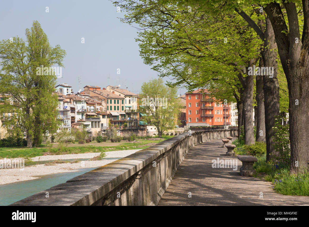 Parma - The Riverside of Parma river. - Stock Image