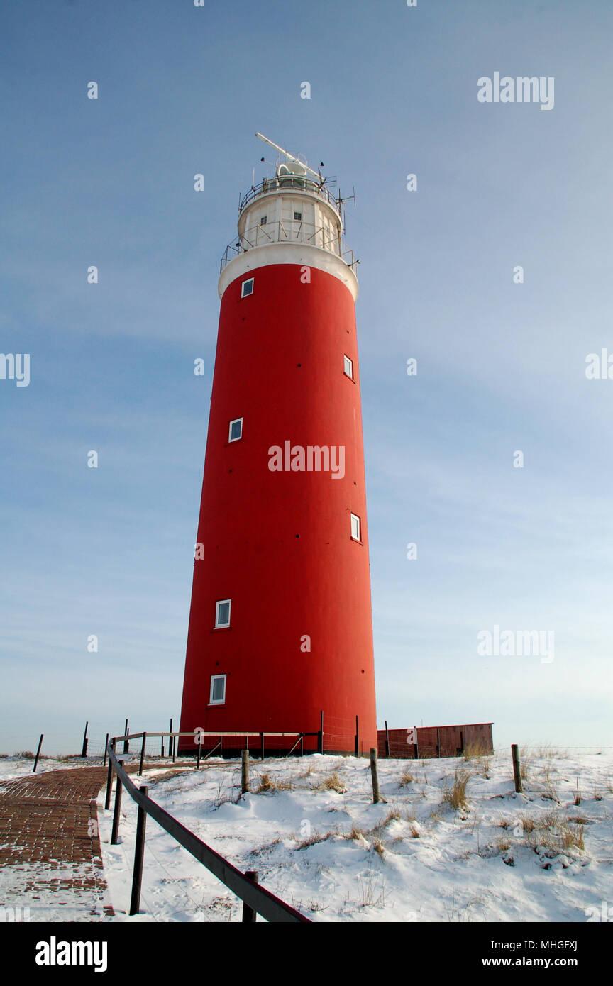 Lighthouse at isle Texel, Holland Europe. Vuurtoren Stock Photo