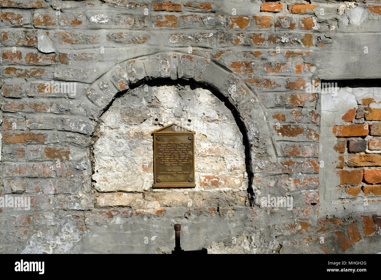Oldest Wall Vault in Saint Louis Cemetery Number 1, New Orleans, Louisiana - Stock Image