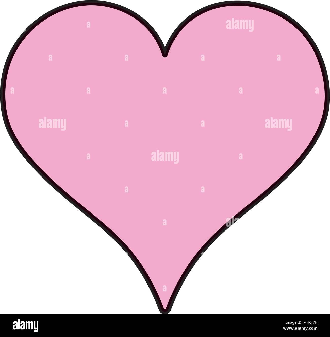 Color Heart Love Symbol Of Passion Design Stock Vector Art