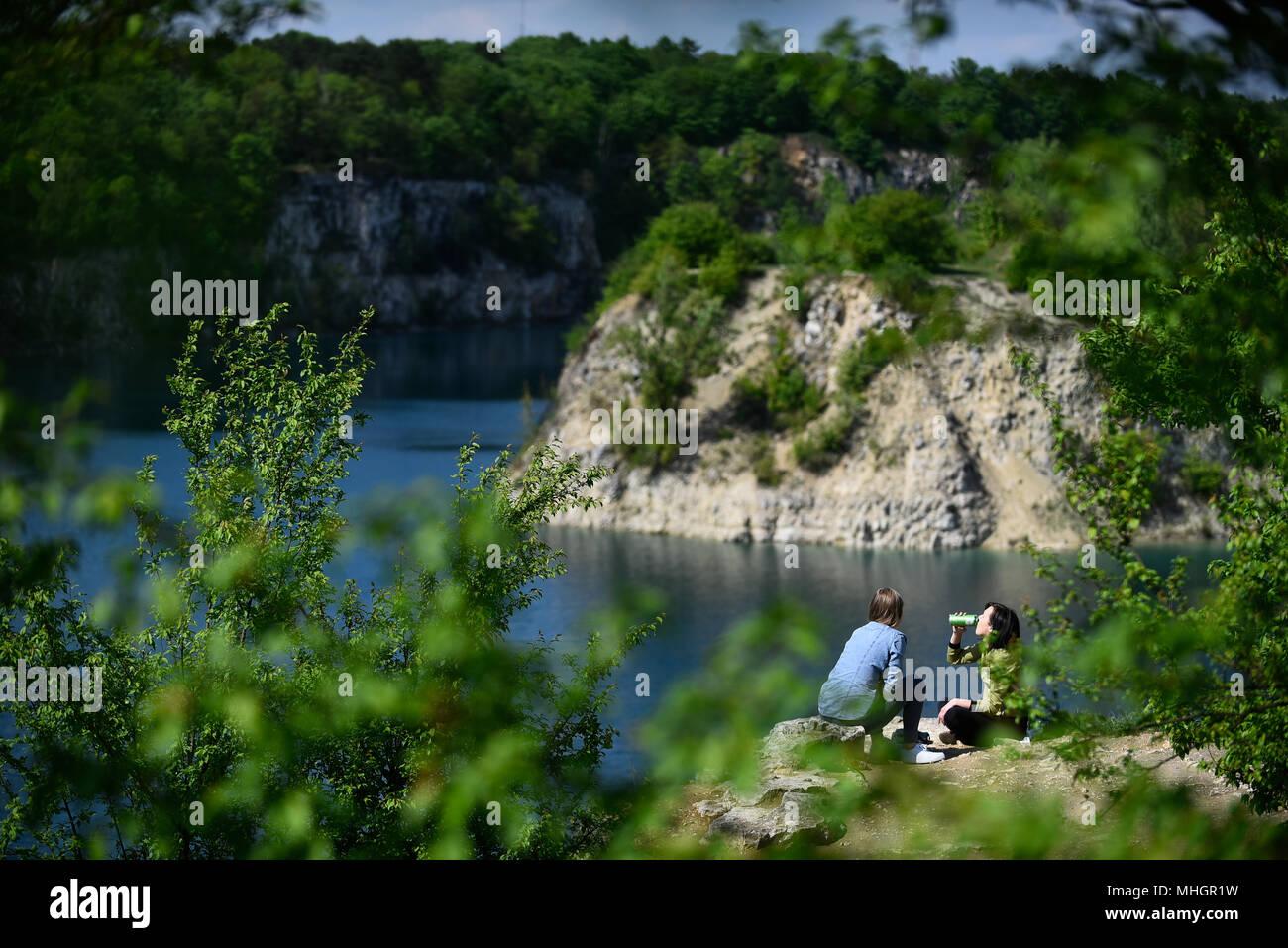 A view of Zakrzowek lake in Krakow  Zakrzowek lake was