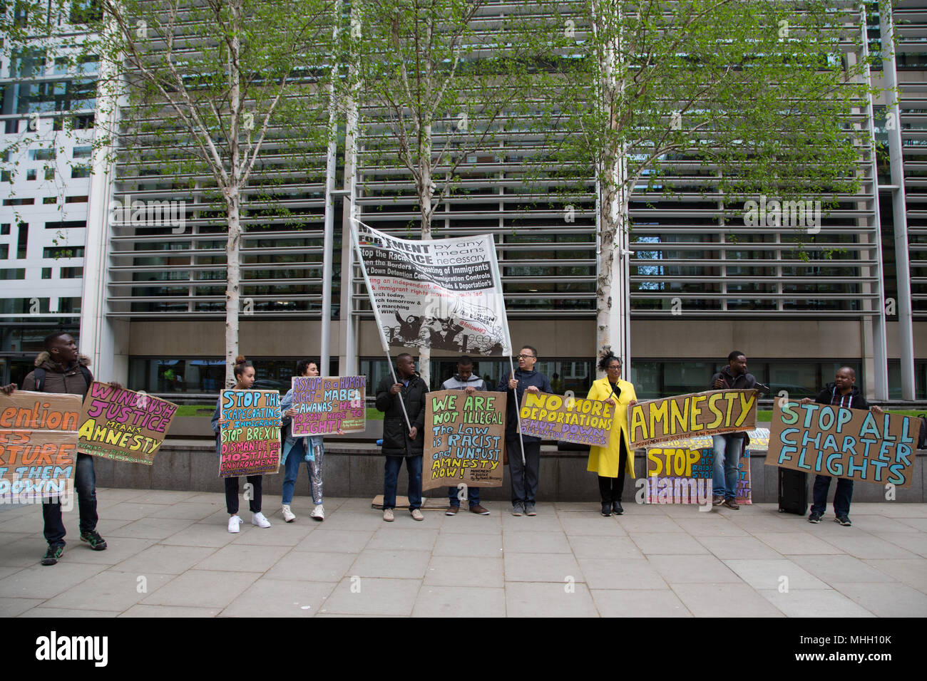 Bon London UK 1st May 2018 Demonstrators Call For An End To Jamaican  Deportation Charter Flights Out Side The Home Office In Central London.