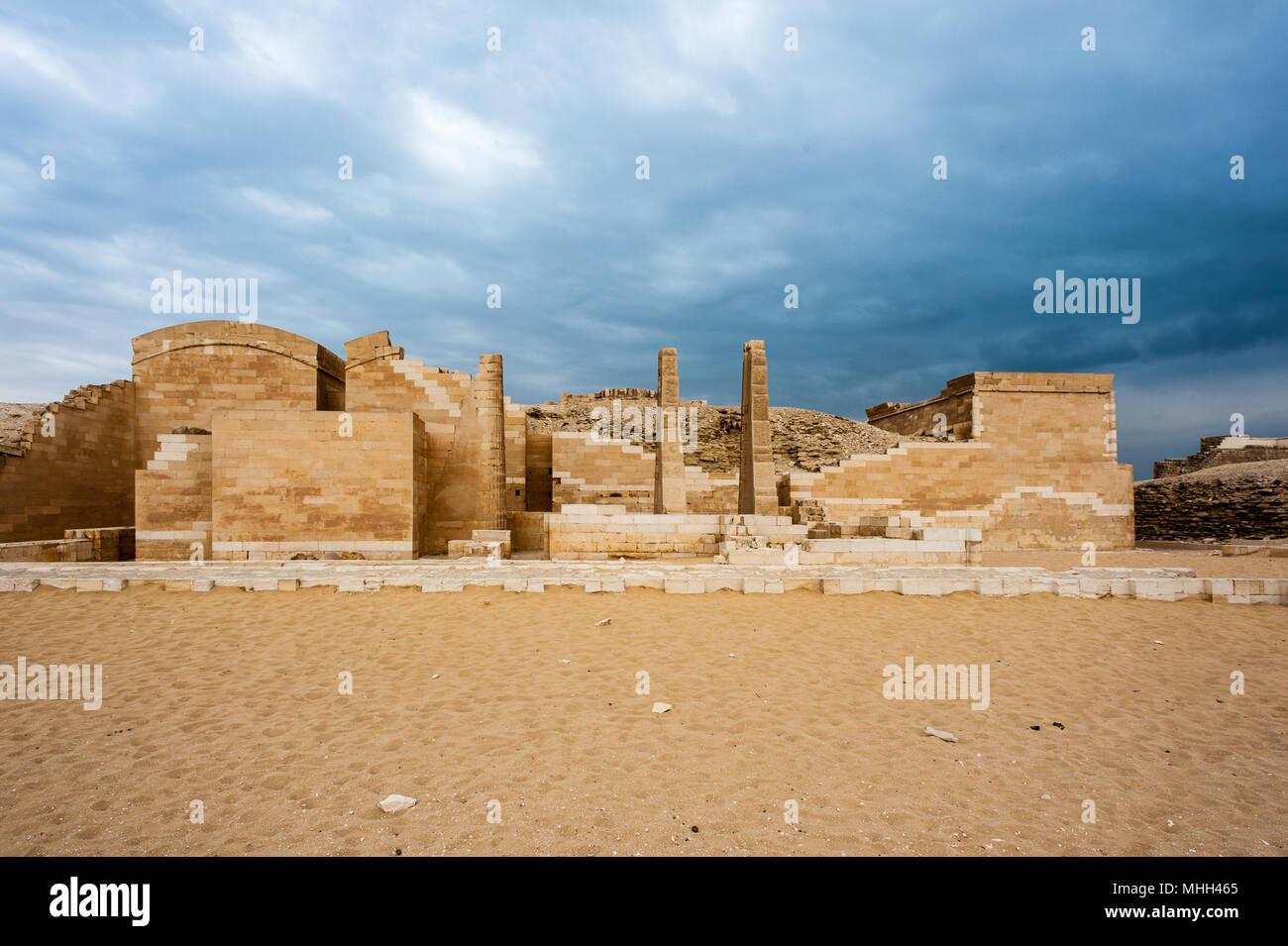 Ruins of the Saqqara necropolis, Egypt. UNESCO World Heritage - Stock Image