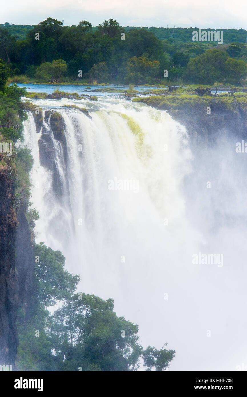 Victoria Falls, Zambezi River, Zimbabwe and Zambia - Stock Image