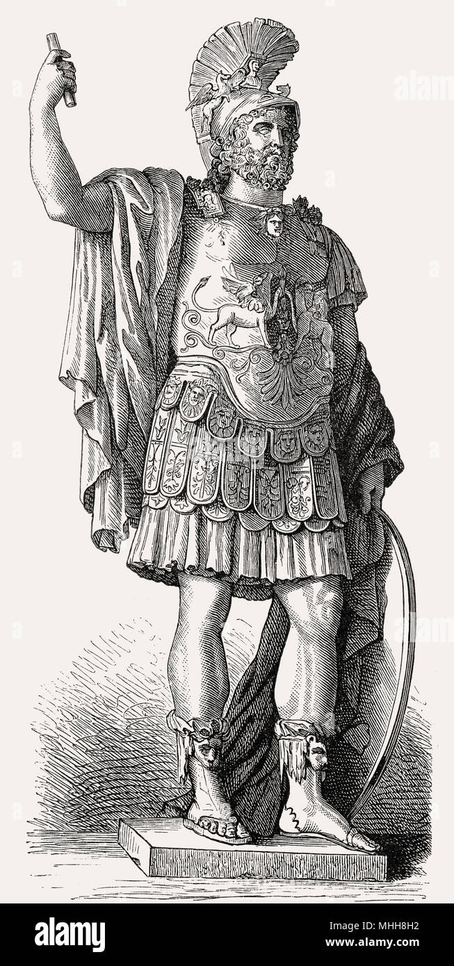 Pyrrhus, 319/318–272 BC, a Greek general and statesman, Hellenistic period - Stock Image
