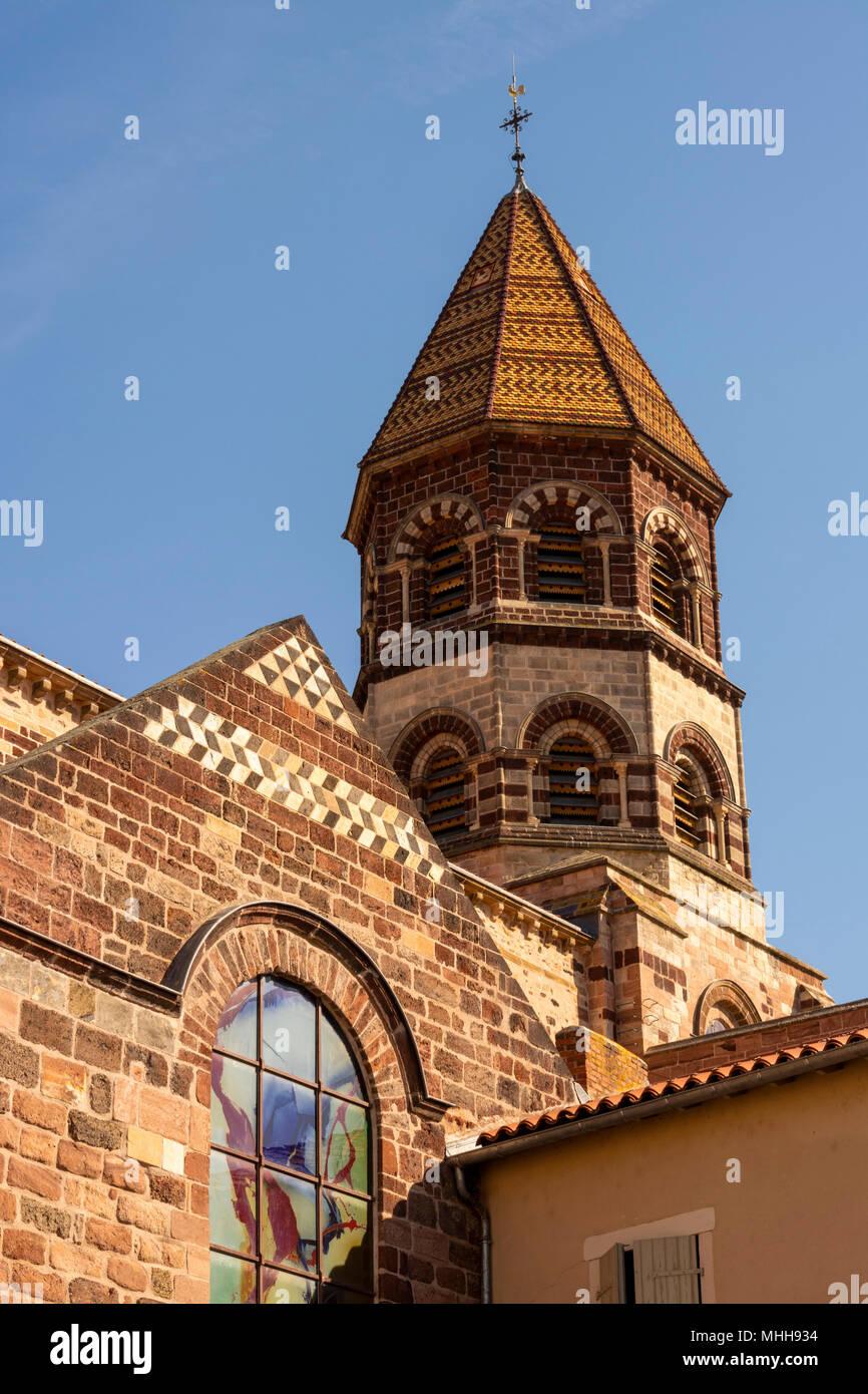 Basilica Saint Julien of Brioude. Haute Loire. Auvergne. France - Stock Image