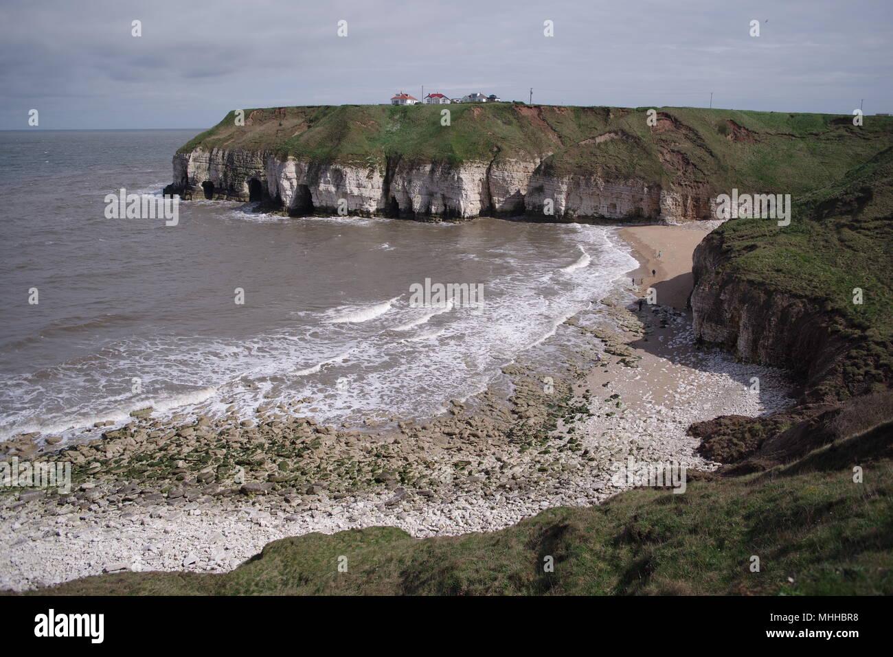 Thornwick Bay, North Yorkshire Coast, UK Stock Photo