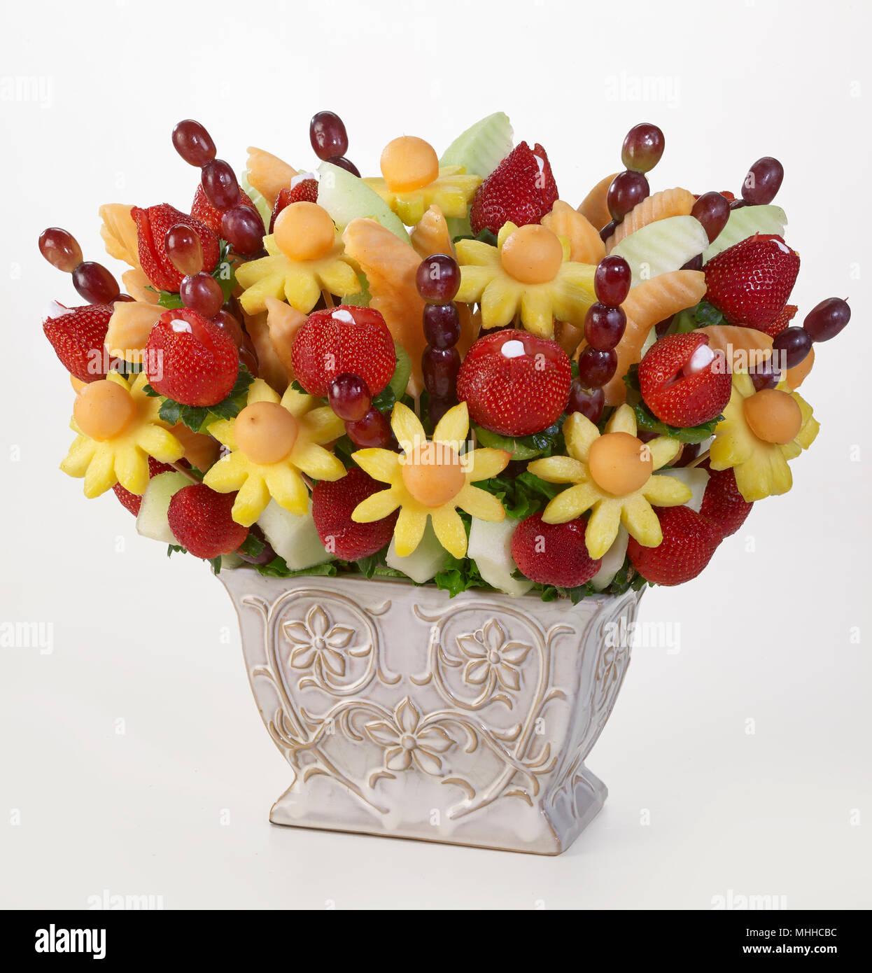 Fruit Flowers Bouquet Stock Photo: 182935744 - Alamy