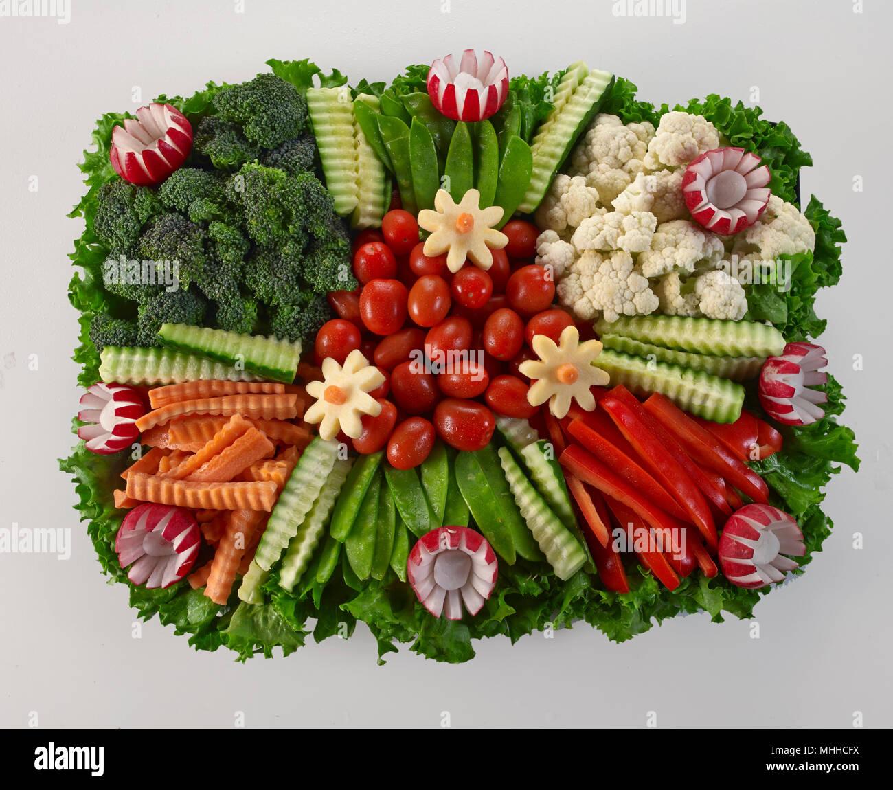 Raw Vegetable Platter Stock Photo Alamy