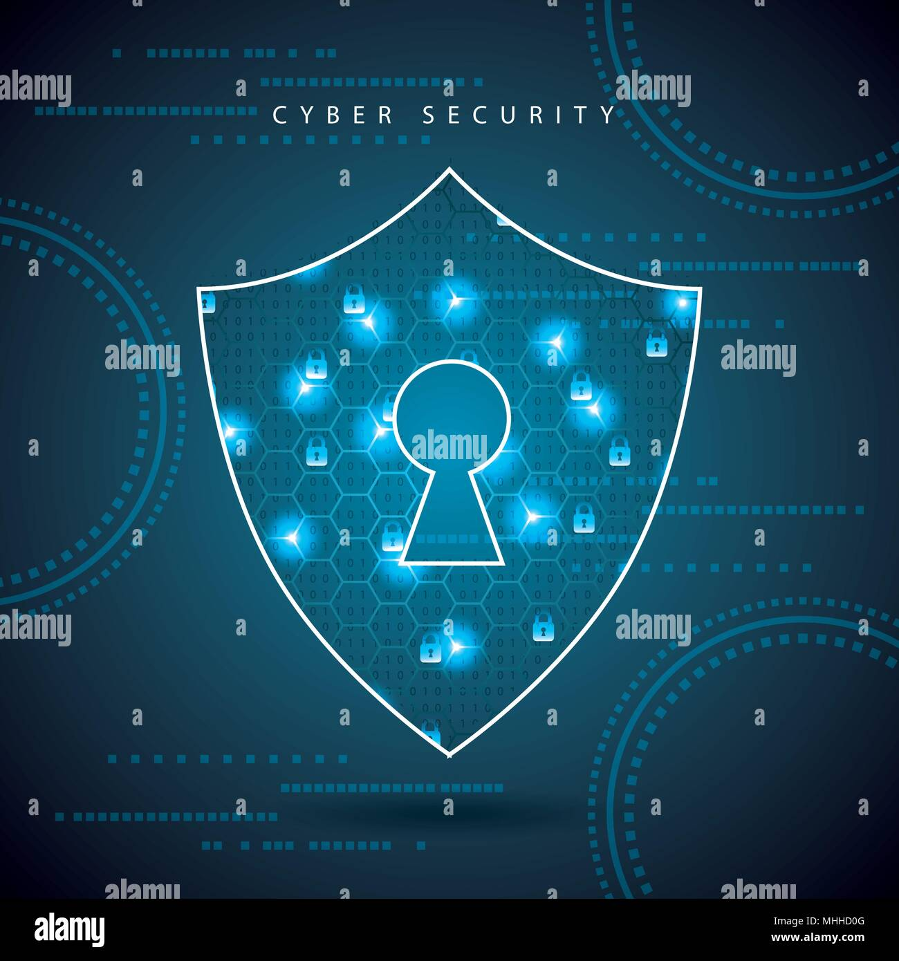 cyber security digital - Stock Vector